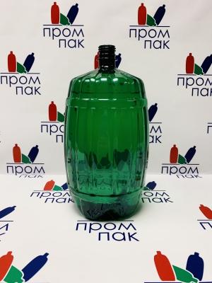 ПЭТ бутылка 3,0 л. БОЧКА(зеленая)