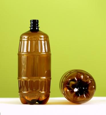 ПЭТ бутылка 1,5л. бочка (коричневая) под заказ